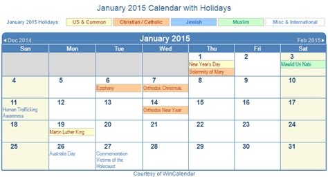 January 2015 Calendar Search Results For January 2015 Calendar Holidays