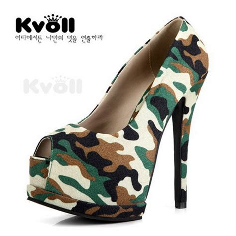 camouflage high heels camo high heels