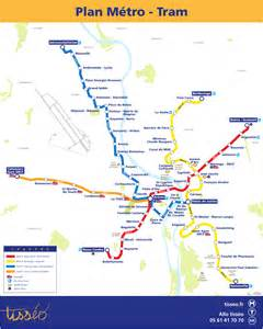 Metro map of Toulouse Full resolution Metro