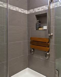 folding shower seat bathroom contemporary with gray shower