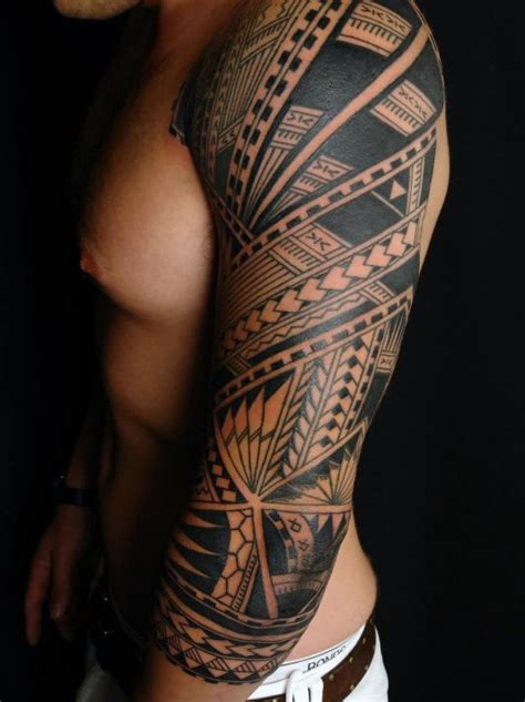 tribal tattoo sleeves for men 90 tribal sleeve tattoos for manly arm design ideas