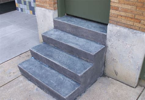 Multi Family hartman concrete projects stamped concrete stairs