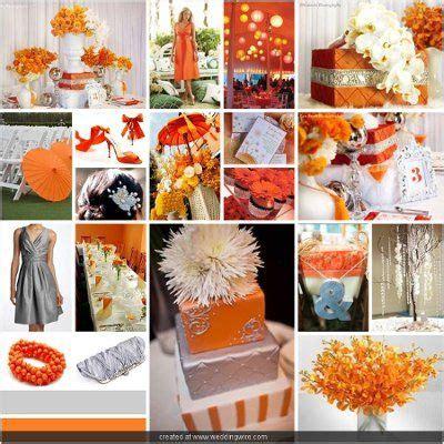 orange and silver wedding decor orange and silver wedding wedding weddings