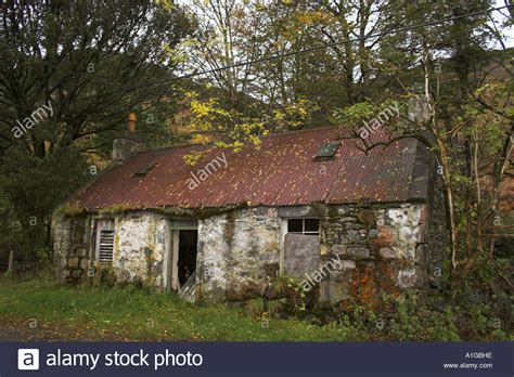 Cottages In The Scottish Highlands by Derelict Cottage In Scottish Highlands Stock Photo