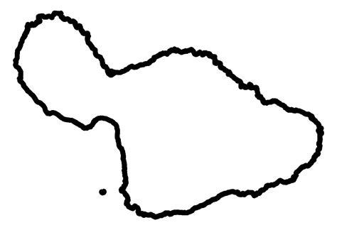 Island Outline by Outline Stock Maps Maps Of Hawaii Maps For Entire State And Islands Of Niihau Kauai Oahu