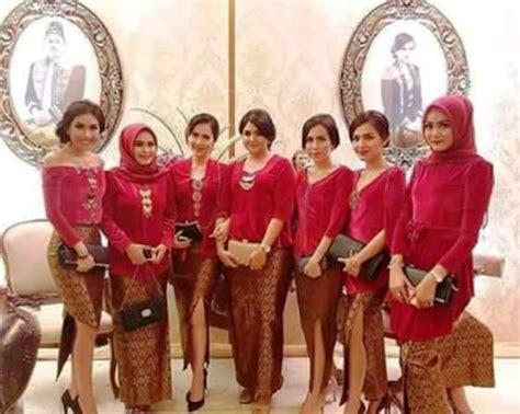contoh kebaya seragam inspirasi kebaya seragam untuk pesta pengantin terlihat