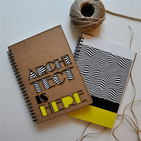 Handmade Notebook - architect is here handmade notebook