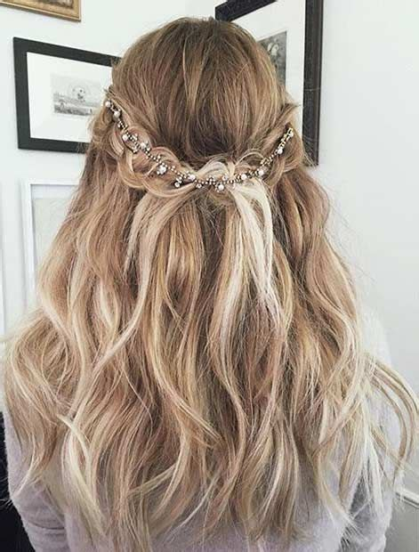 hairstyles with hair jewels 50 gorgeous prom hairstyles for long hair society19