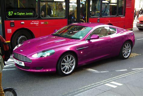 purple aston bizarrices automotivas