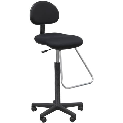 Drafting Chair Design Ideas Office Work Smart Backless Drafting Chair Black Walmart
