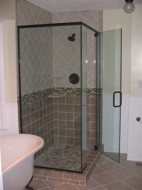 Glass Shower Doors Custom Decorative Bathroom Frameless Custom Shower Glass Doors