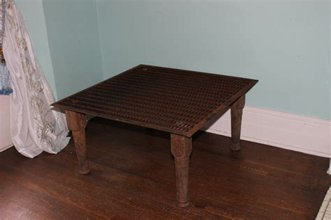 industrial chic coffee table metal grate by