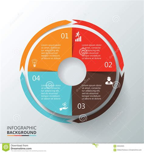 Vector Circle Infographic Stock Vector Illustration Of Background 56594925 Circle Infographic Template