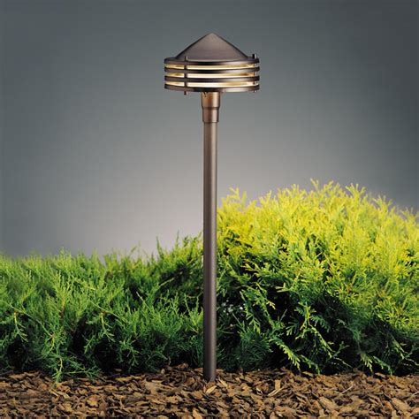 kichler 15318azt textured architectural bronze 23 inch - Outdoor Path Lights