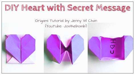 How To Make A Secret Message On Paper - diy origami box envelope with secret message pop