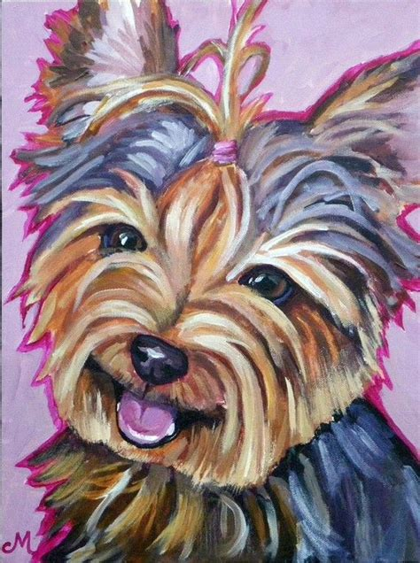 yorkie painting 1000 images about yorkie painting on