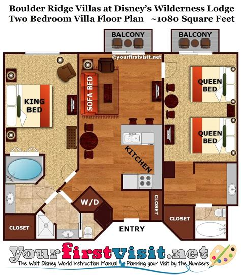Disney Club 2 Bedroom Villa Floor Plan - review boulder ridge villas at disney s wilderness lodge