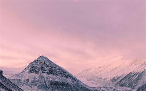 nz snow winter moon mountain nature pink wallpaper