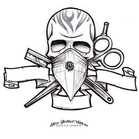 sketchbook logo barber logo sketch by stevegolliotvillers on