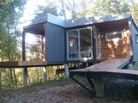 storage container houses shipping container homes the 8747 house the james river springfield missouri 4