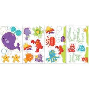 fisher price wall stickers fisher price wonders 25 wall decals nursery baby fish room decor stickers ebay