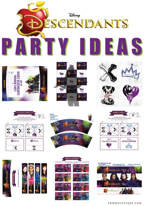 Diy Decorations For Home by Disney Descendants Party Ideas Food Crafts And Family