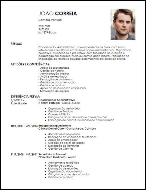 Modelo De Curriculum Vitae Gerente Administrativo Modelo Curriculum Vitae Coordenador Administrativo Livecareer