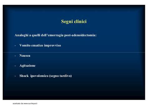 alimentazione post tonsillectomia lezioni corso orl dangelo