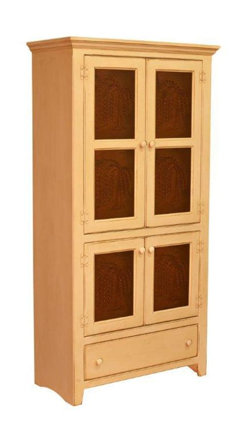 Buy Kitchen Cabinet Doors Only by Amish Georgetown Pine Pantry Pie Safe Cabinet With Tin Doors
