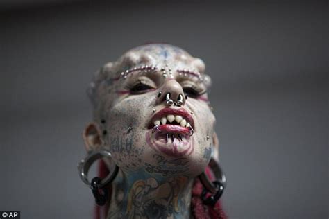 extreme tattoo montreal piercings tats and even devil horns out in force at the