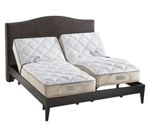 sleep number adjustable bed reviews sleep number icon 10 quot split king adjustable bed set qvc com