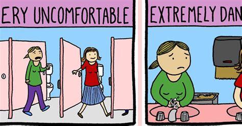 badezimmer comic adorable comic mocks trans bathroom panic attn