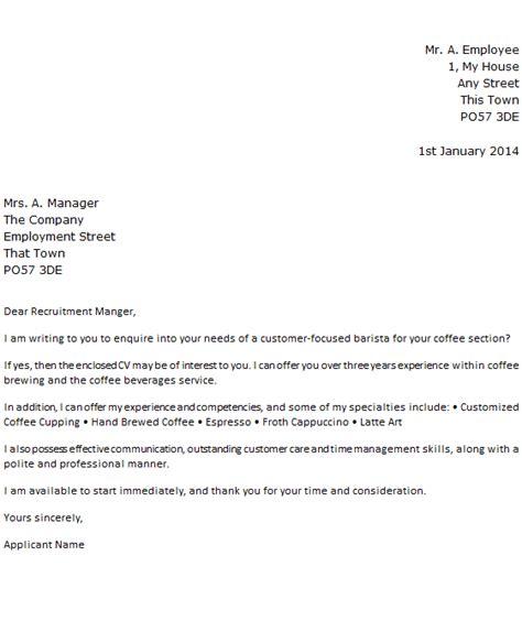 barista job application cover letter learnistorg