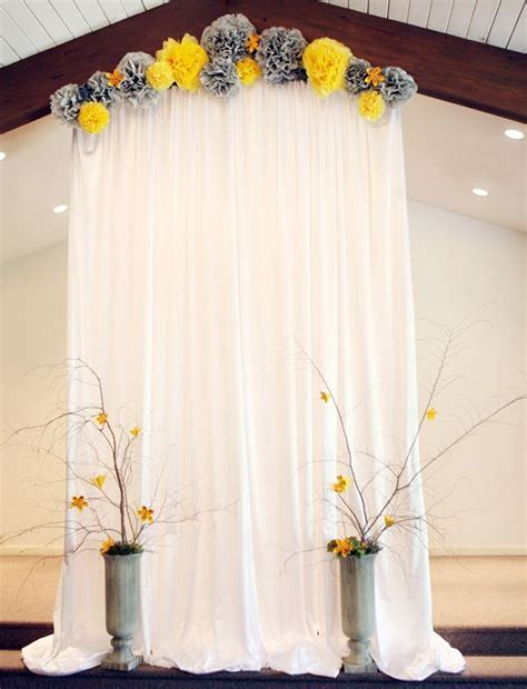 Indoor Wedding Ceremony Backdrop   wedding simple but very