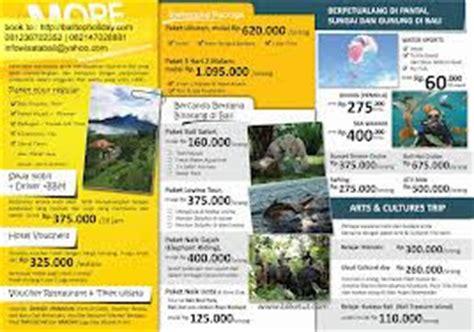 membuat brosur travel wisata liburan jalan jalan brosur hotel cerminan image