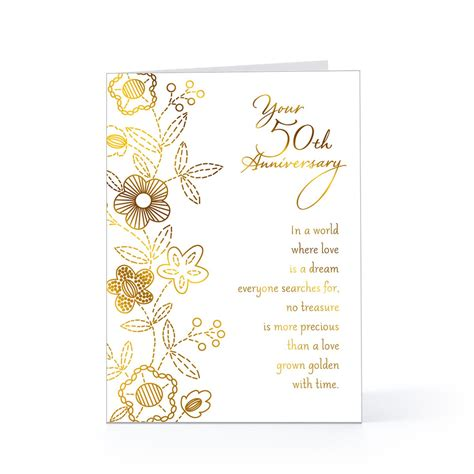 Wedding Anniversary Card Verses by 50th Anniversary Quotes Quotesgram
