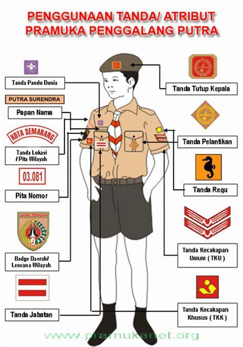 Baju Pramuka Standar Nasional gado gado meriah cara memakai atribut seragam pramuka penggalang