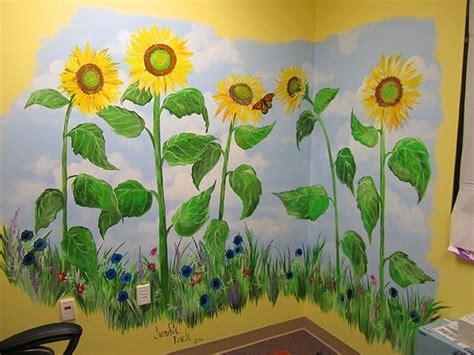 Sunflower Wall Murals hand painted sunflower mural garden not just soil and