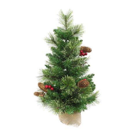2ft 60cm artificial christmas tree mini indoor xmas decoration