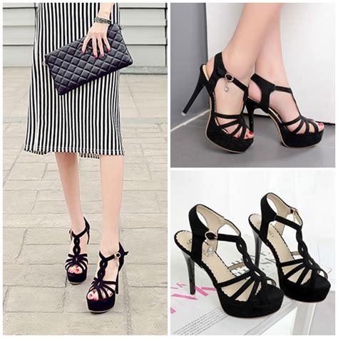 Sepatu Wanita Heel 12cm jual shh1985 black sepatu heels elegan 12cm grosirimpor