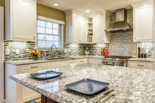 White Cabinet Kitchens With Granite Countertops everest