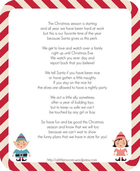 printable elf arrival letter elf on the shelf arrival letter from a little moore elf