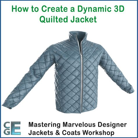 How To Make A Quilted Jacket by Md113 Marvelous Designer Quilted Jacket Tutorial