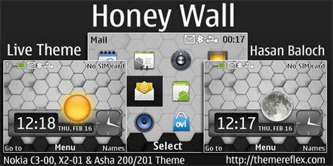 live themes nokia 200 honey wall live theme for nokia c3 x2 01 asha 200 201