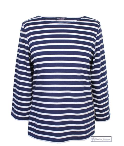 Claires Stiped T Shirt galathee breton stripe top shirt summer weight the nautical company uk
