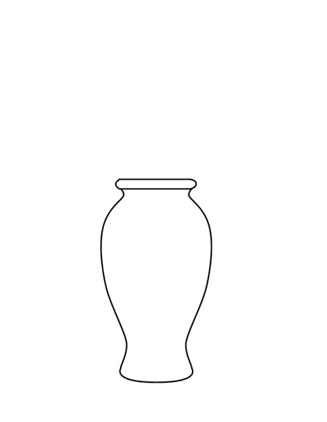 Vase Template by Printable Flower Vase Template