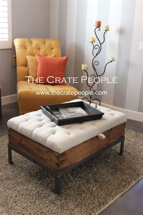 using ottoman as coffee table 25 best crate coffee tables ideas on wine