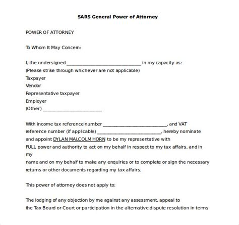 15 Word Power Of Attorney Templates Free Download Free Premium Templates Poa Letter Template