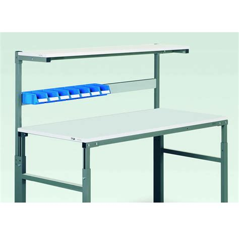 Shelf Rails by Bin Rails For Esd Workbenches With Uprights And Shelf