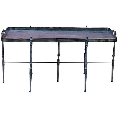 Metal Top Coffee Table Metal Tray Top Coffee Table At 1stdibs
